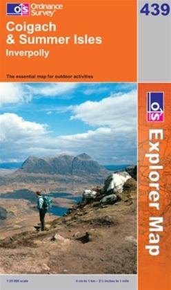OS Explorer Map 439 Coigach & Summer Isles