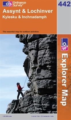 OS Explorer Map 442 Assynt & Lochinver