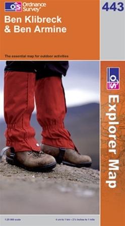 OS Explorer Map 443 Ben Klibreck & Ben Armine
