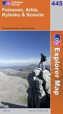 OS Explorer Map 445 Foinaven, Arkle, Kylesku & Scourie