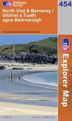 OS Explorer Map 454 North Uist & Berneray