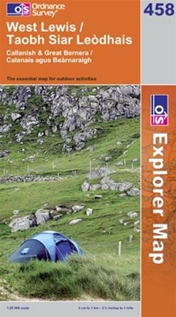 OS Explorer Map 458 West Lewis
