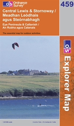 OS Explorer Map 459 Central Lewis & Stornoway