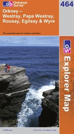 OS Explorer Map 464 Orkney - Westray, Papa Westray, Rousay, Egilsay & Wyre