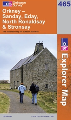 OS Explorer Map 465 Orkney - Sanday, Eday, North Ronaldsay & Stronsay