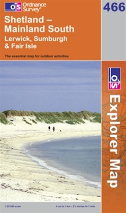 OS Explorer Map 466 Shetland - Mainland South