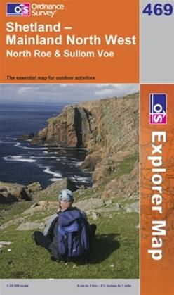 OS Explorer Map 469 Shetland - Mainland North West