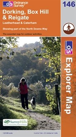 OS Explorer Map 146 Dorking, Box Hill & Reigate