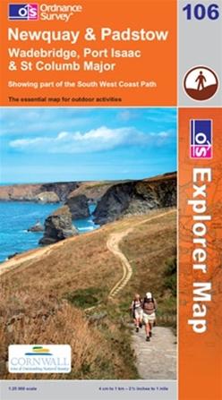 OS Explorer Map 106 Newquay & Padstow