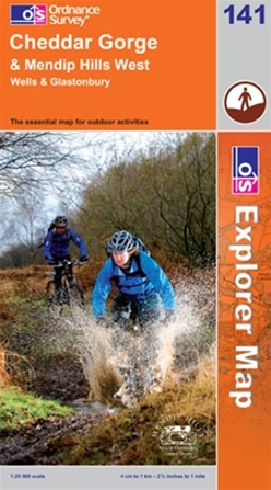 OS Explorer Map 141 Cheddar Gorge & Mendip Hills West
