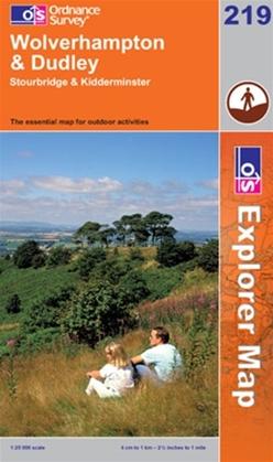 OS Explorer Map 219 Wolverhampton & Dudley