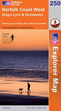 OS Explorer Map 250 Norfolk Coast West