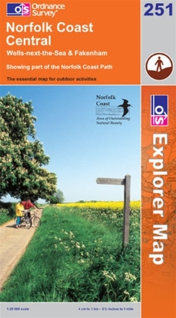 OS Explorer Map 251 Norfolk Coast Central