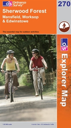 OS Explorer Map 270 Sherwood Forest