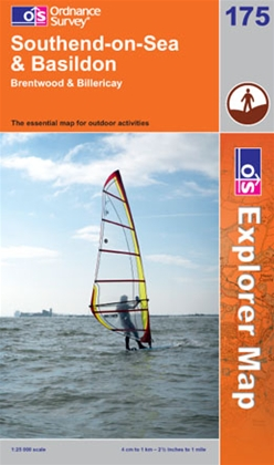 OS Explorer Map 175 Southend-on-Sea & Basildon