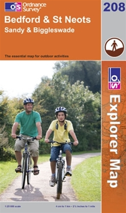 OS Explorer Map 208 Bedford & St Neots