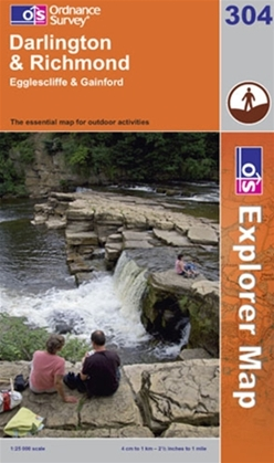 OS Explorer Map 304 Darlington & Richmond