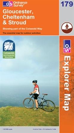 OS Explorer Map 179 Gloucester, Cheltenham & Stroud