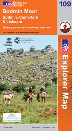 OS Explorer Map 109 Bodmin Moor