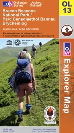 OS Explorer Map OL 13 Brecon Beacons National Park Eastern area