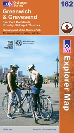 OS Explorer Map 162 Greenwich and Gravesend