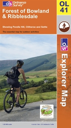 OS Explorer Map OL 41 Forest of Bowland & Ribblesdale