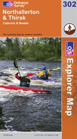 OS Explorer Map 302 Northallerton & Thirsk