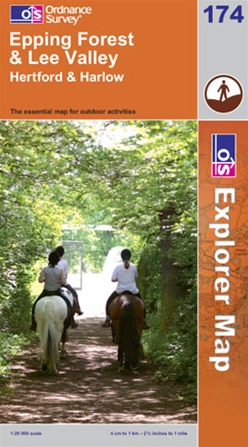 OS Explorer Map 174 Epping Forest & Lee Valley