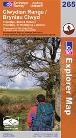 OS Explorer Map 265 Clwydian Range