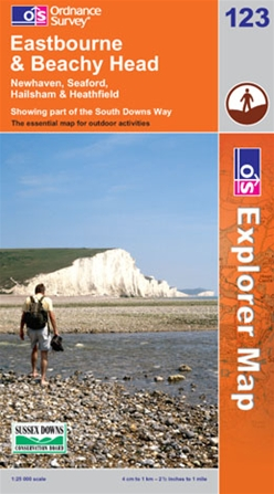 OS Explorer Map 123 Eastbourne & Beachy Head