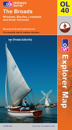 OS Explorer Map OL 40 The Broads