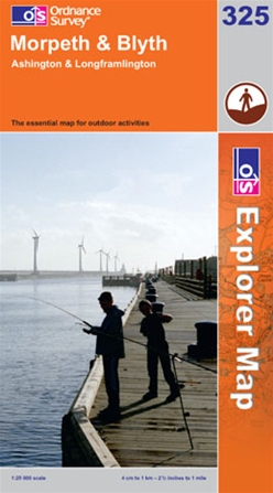 OS Explorer Map 325 Morpeth & Blyth