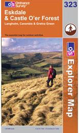 OS Explorer Map 323 Eskdale and Castle O'er Forest