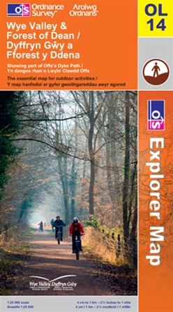 OS Explorer Map OL 14 Wye Valley & Forest of Dean