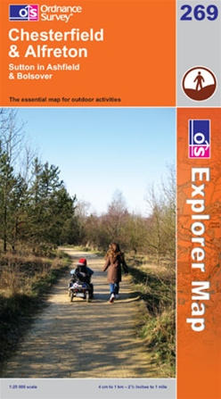 OS Explorer Map 269 Chesterfield & Alfreton
