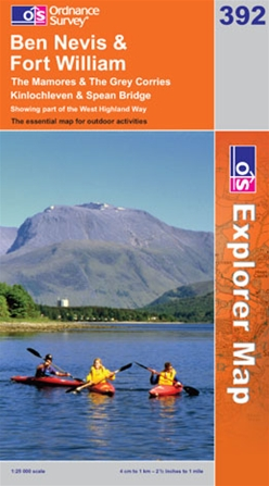 OS Explorer Map 392 Ben Nevis & Fort William