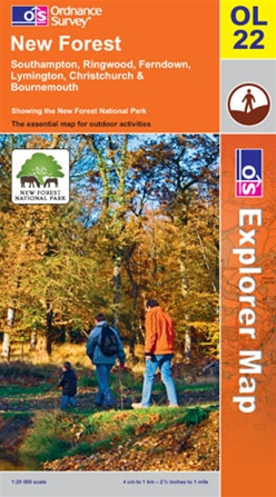 OS Explorer Map OL 22 New Forest