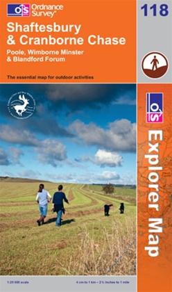 OS Explorer Map 118 Shaftesbury & Cranborne Chase