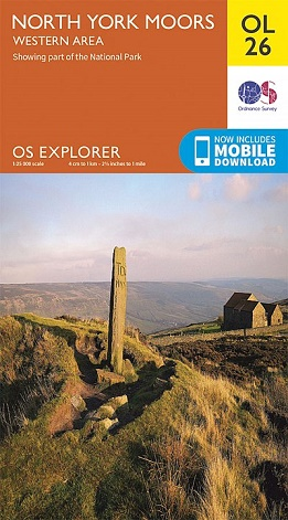 OS Explorer Map OL 26 - North York Moors: Western Area