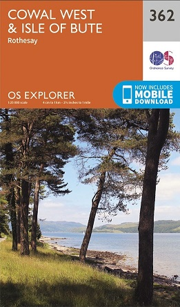 OS Explorer Map 362 Cowal West & Isle of Bute