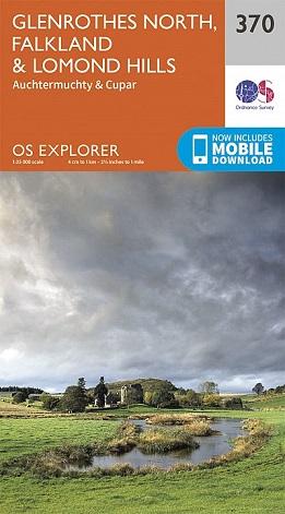 OS Explorer Map 370 Glenrothes North, Falkland & Lomond Hills