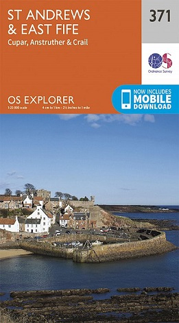 OS Explorer Map 371 St Andrews & East Fife