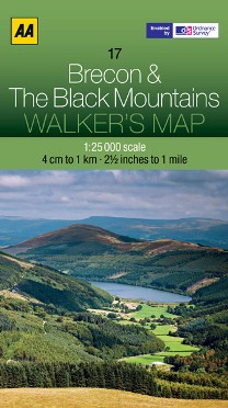 AA Walker's Map - Brecon & The Black Mountains