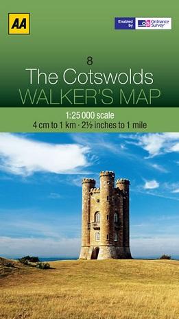 AA Walker's Maps - The Cotswolds