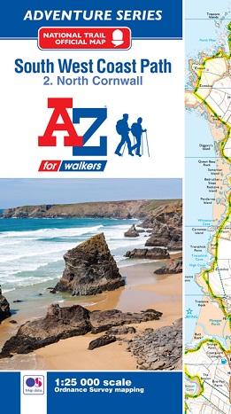 South West Coast Path North Cornwall - A-Z Adventure Atlas