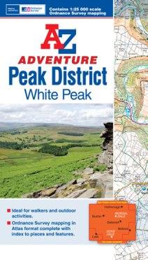A-Z Adventure Map - Peak District (White Peak)