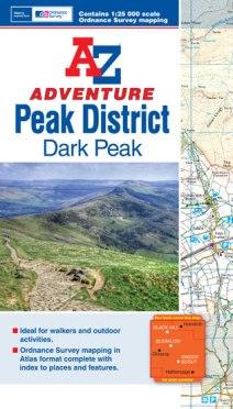 A-Z Adventure Map - Peak District (Dark Peak)