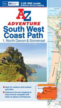 A-Z Adventure Atlas of the South West Coast Path - North Devon and Somerset