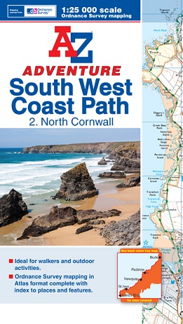 A-Z Adventure Atlas of the South West Coast Path - North Cornwall