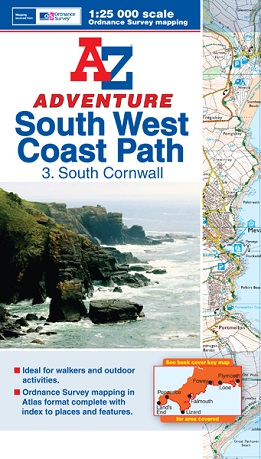 A-Z Adventure Atlas of the South West Coast Path - South Cornwall
